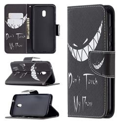 Crooked Grin Leather Wallet Case for Nokia C1 Plus