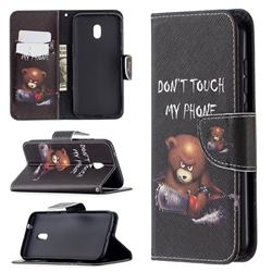 Chainsaw Bear Leather Wallet Case for Nokia C1 Plus
