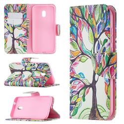 The Tree of Life Leather Wallet Case for Nokia C1 Plus