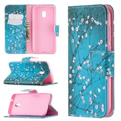 Blue Plum Leather Wallet Case for Nokia C1 Plus
