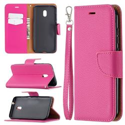 Classic Luxury Litchi Leather Phone Wallet Case for Nokia C1 Plus - Rose