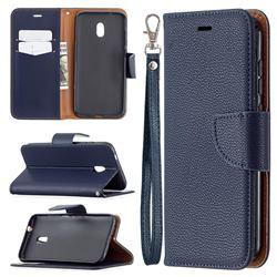 Classic Luxury Litchi Leather Phone Wallet Case for Nokia C1 Plus - Blue
