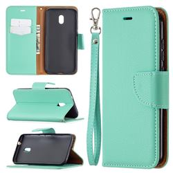 Classic Luxury Litchi Leather Phone Wallet Case for Nokia C1 Plus - Green