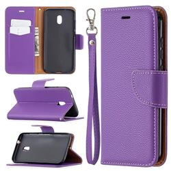 Classic Luxury Litchi Leather Phone Wallet Case for Nokia C1 Plus - Purple