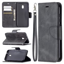 Classic Sheepskin PU Leather Phone Wallet Case for Nokia C1 Plus - Black