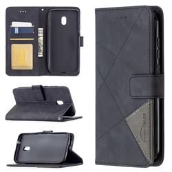 Binfen Color BF05 Prismatic Slim Wallet Flip Cover for Nokia C1 Plus - Black