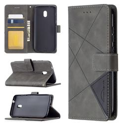 Binfen Color BF05 Prismatic Slim Wallet Flip Cover for Nokia C1 Plus - Gray