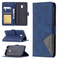 Binfen Color BF05 Prismatic Slim Wallet Flip Cover for Nokia C1 Plus - Blue