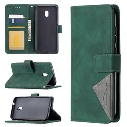Binfen Color BF05 Prismatic Slim Wallet Flip Cover for Nokia C1 Plus - Green