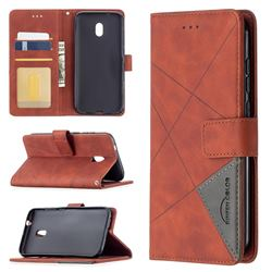Binfen Color BF05 Prismatic Slim Wallet Flip Cover for Nokia C1 Plus - Brown
