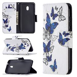 Flying Butterflies Leather Wallet Case for Nokia C1 Plus