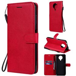 Retro Greek Classic Smooth PU Leather Wallet Phone Case for Nokia G20 - Red