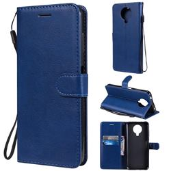 Retro Greek Classic Smooth PU Leather Wallet Phone Case for Nokia G20 - Blue