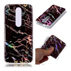Black Brown Marble Pattern Bright Color Laser Soft TPU Case for Nokia 6.1 Plus (Nokia X6)
