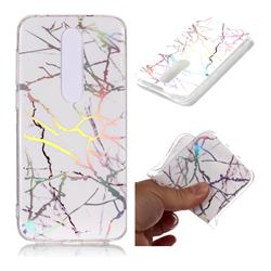 Color White Marble Pattern Bright Color Laser Soft TPU Case for Nokia 6.1 Plus (Nokia X6)