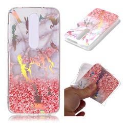 Powder Sandstone Marble Pattern Bright Color Laser Soft TPU Case for Nokia 6.1 Plus (Nokia X6)