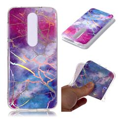 Dream Sky Marble Pattern Bright Color Laser Soft TPU Case for Nokia 6.1 Plus (Nokia X6)