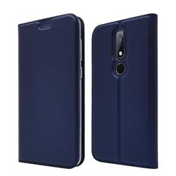 Ultra Slim Card Magnetic Automatic Suction Leather Wallet Case for Nokia 6.1 Plus (Nokia X6) - Royal Blue