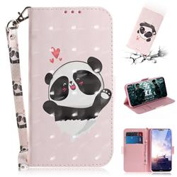 Heart Cat 3D Painted Leather Wallet Phone Case for Nokia 6.1 Plus (Nokia X6)