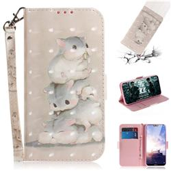 Three Squirrels 3D Painted Leather Wallet Phone Case for Nokia 6.1 Plus (Nokia X6)