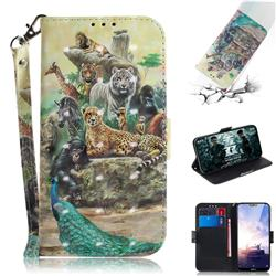 Beast Zoo 3D Painted Leather Wallet Phone Case for Nokia 6.1 Plus (Nokia X6)