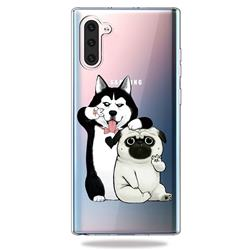 Selfie Dog Clear Varnish Soft Phone Back Cover for Samsung Galaxy Note 10 (6.28 inch)