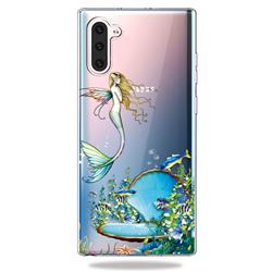 Mermaid Clear Varnish Soft Phone Back Cover for Samsung Galaxy Note 10 (6.28 inch)