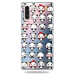 Mini Panda Clear Varnish Soft Phone Back Cover for Samsung Galaxy Note 10 (6.28 inch)