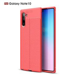 Luxury Auto Focus Litchi Texture Silicone TPU Back Cover for Samsung Galaxy Note 10 (6.28 inch) / Note10 5G - Red