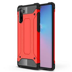 King Kong Armor Premium Shockproof Dual Layer Rugged Hard Cover for Samsung Galaxy Note 10 (6.28 inch) / Note10 5G - Big Red