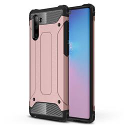 King Kong Armor Premium Shockproof Dual Layer Rugged Hard Cover for Samsung Galaxy Note 10 (6.28 inch) / Note10 5G - Rose Gold