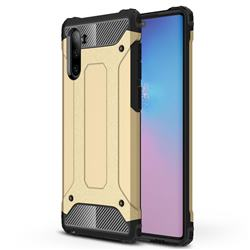 King Kong Armor Premium Shockproof Dual Layer Rugged Hard Cover for Samsung Galaxy Note 10 (6.28 inch) / Note10 5G - Champagne Gold