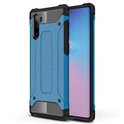 King Kong Armor Premium Shockproof Dual Layer Rugged Hard Cover for Samsung Galaxy Note 10 (6.28 inch) / Note10 5G - Sky Blue
