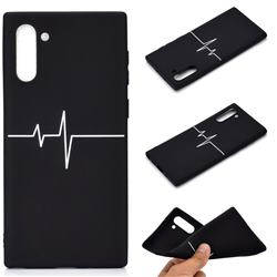 Electrocardiogram Chalk Drawing Matte Black TPU Phone Cover for Samsung Galaxy Note 10 (6.28 inch) / Note10 5G