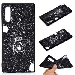 Travel The Universe Chalk Drawing Matte Black TPU Phone Cover for Samsung Galaxy Note 10 (6.28 inch) / Note10 5G