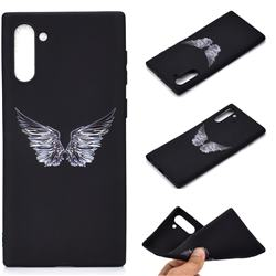 Wings Chalk Drawing Matte Black TPU Phone Cover for Samsung Galaxy Note 10 (6.28 inch) / Note10 5G