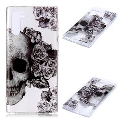 Skull Rose Super Clear Soft TPU Back Cover for Samsung Galaxy Note 10 (6.28 inch) / Note10 5G