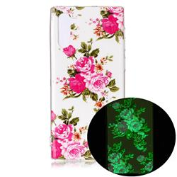 Peony Noctilucent Soft TPU Back Cover for Samsung Galaxy Note 10 (6.28 inch) / Note10 5G