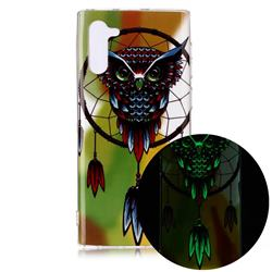 Owl Wind Chimes Noctilucent Soft TPU Back Cover for Samsung Galaxy Note 10 (6.28 inch) / Note10 5G