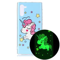 Stars Unicorn Noctilucent Soft TPU Back Cover for Samsung Galaxy Note 10 (6.28 inch) / Note10 5G