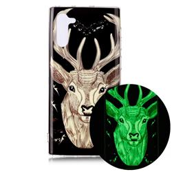 Fly Deer Noctilucent Soft TPU Back Cover for Samsung Galaxy Note 10 (6.28 inch) / Note10 5G
