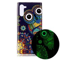 Tribe Owl Noctilucent Soft TPU Back Cover for Samsung Galaxy Note 10 (6.28 inch) / Note10 5G