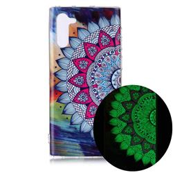 Colorful Sun Flower Noctilucent Soft TPU Back Cover for Samsung Galaxy Note 10 (6.28 inch) / Note10 5G