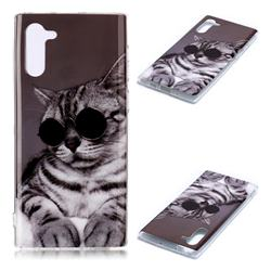 Kitten with Sunglasses Soft TPU Cell Phone Back Cover for Samsung Galaxy Note 10 (6.28 inch) / Note10 5G