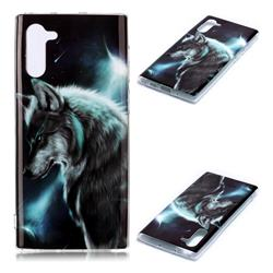 Fierce Wolf Soft TPU Cell Phone Back Cover for Samsung Galaxy Note 10 (6.28 inch) / Note10 5G