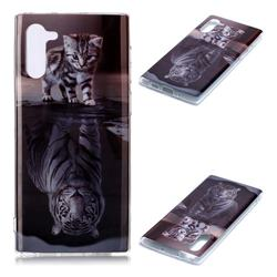 Cat and Tiger Soft TPU Cell Phone Back Cover for Samsung Galaxy Note 10 (6.28 inch) / Note10 5G