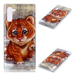 Cute Tiger Baby Soft TPU Cell Phone Back Cover for Samsung Galaxy Note 10 (6.28 inch) / Note10 5G