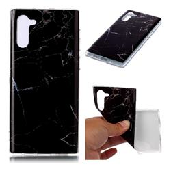 Black Soft TPU Marble Pattern Case for Samsung Galaxy Note 10 (6.28 inch)