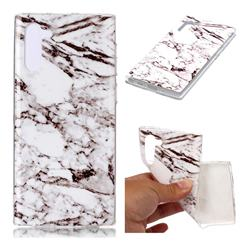 White Soft TPU Marble Pattern Case for Samsung Galaxy Note 10 (6.28 inch)