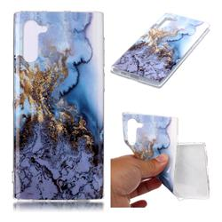 Sea Blue Soft TPU Marble Pattern Case for Samsung Galaxy Note 10 (6.28 inch)